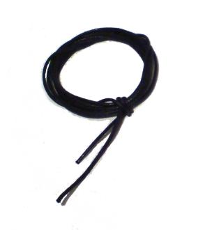 Puuvillanaru - musta - 1mm