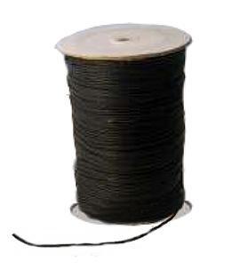 Puuvillanaru - musta - 2mm