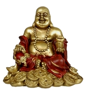 Golden Happy Buddha - Money, 10