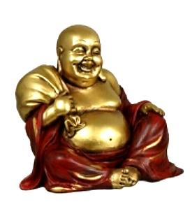 Golden Happy Buddha - Sack, 12