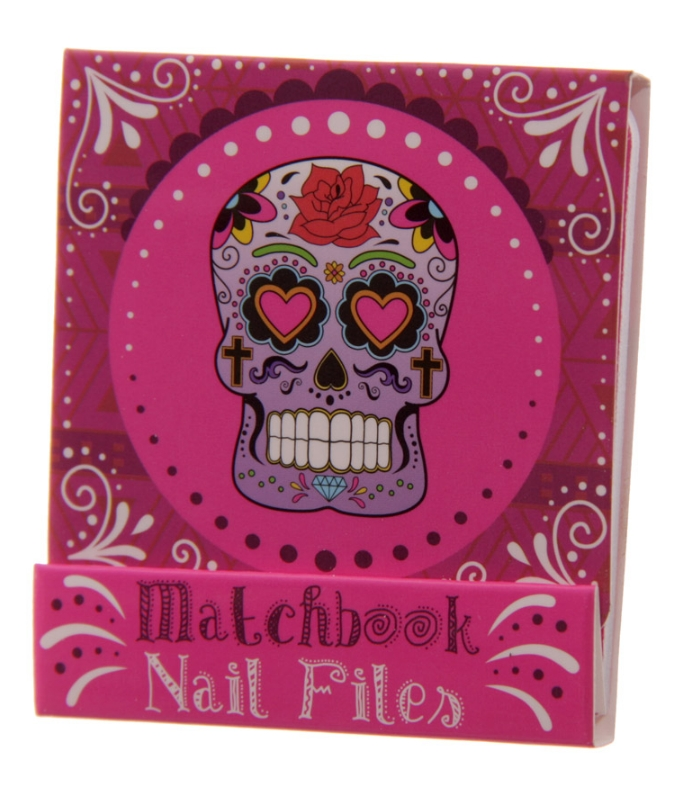 lareina webshop nail file match book day of the dead pink