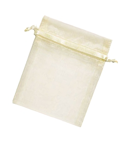 Organza Jewellery Pouch - Natural White 6,5 x 9cm