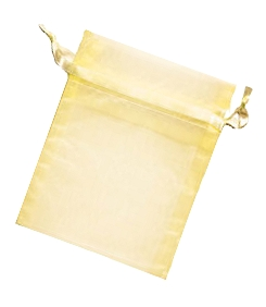 Organza Jewellery Pouch - Yellow 6,5 x 9cm