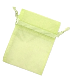 Organza Jewellery Pouch - Lime Green 6,5 x 9cm