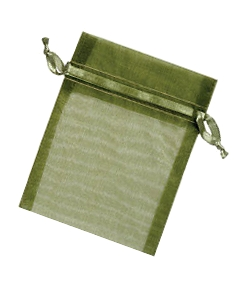 Organza Jewellery Pouch - Olive Green 6,5 x 9cm
