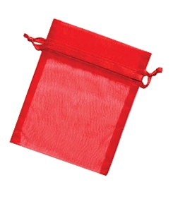 Organza Jewellery Pouch - Red 6,5 x 9cm