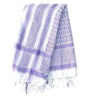 Arabic Scarf Cotton - White n' Blue