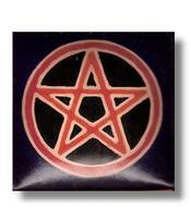 Pörssi - nahka - pentagrammi sininen