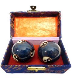 Baoding Balls - Yin Yang Blue Multi 45mm
