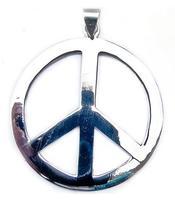 Silver Pendant - Peace 50mm