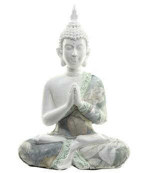 Amitabha Thai Buddha - White Anjali Mudra 23cm