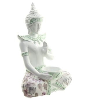 Amitabha Thai Buddha - White Tealight Holder 19cm