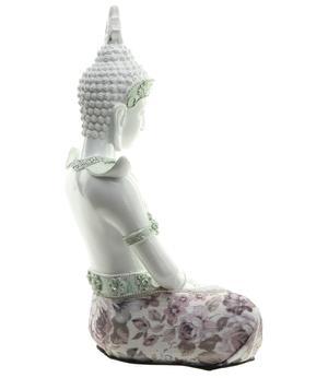 Amitabha Thai Buddha - White Dhyana Mudra 26cm