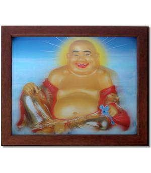 3D Picture in Frame - Happy Buddha