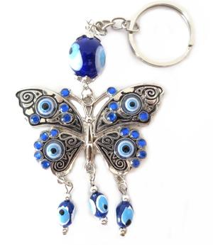 Good Luck Butterfly Eye Amulet - Key Chain