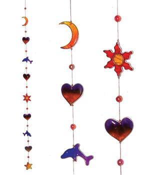 Suncatcher - Dolphin Heart Star