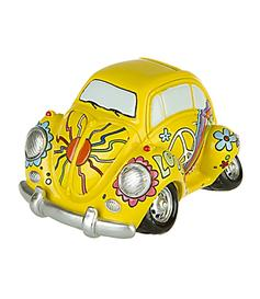 Love & Peace Flower Power Car - Money Bank