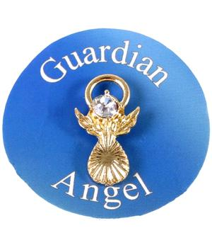 Guardian Angel Pin - White