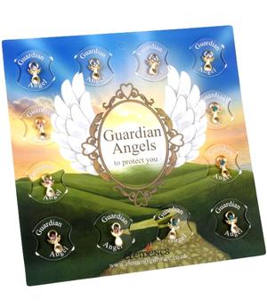 Guardian Angel Pin - White