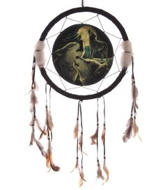 Medicine Shield - Wolf Song by Lisa Parker 33cm
