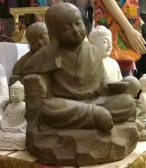 Shaolin Zen Buddha - Brown Stone Tealight Holder 40