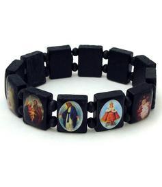 Wooden Icon Bracelet - Saints