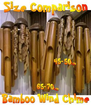 Bamboo Wind Chime - Sun & Moon 45cm