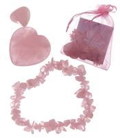 Love Token - Rose Quartz Bracelet, Heart n' Tumble Stone