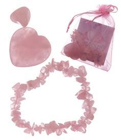 Love Token - Rose Quartz Bracelet, Heart n' Tumble Stone