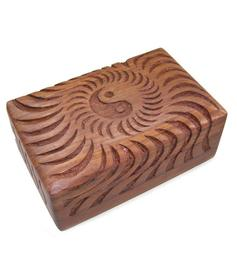Wooden Tarot Box - Ying & Yang