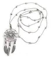 Dreamcatcher Necklace - Silvery