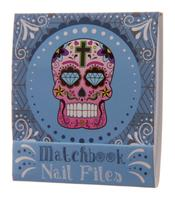Nail File Match Book - Day of The Dead, Blue