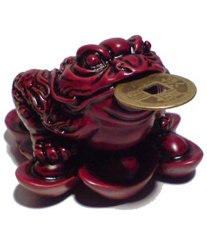 Three-legged Toad on Nuggets - Red Shou Shen 7,5cm