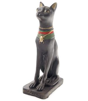 Statue Egyptian Cat - Bastet with Scarab