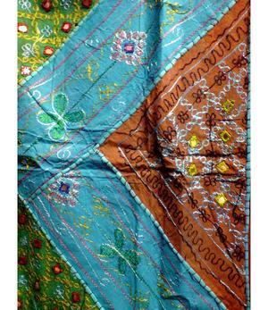 Wall Hanging   Patchwork Batik - Turquoise