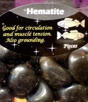 Zodiac Stone Pisces - Hematite