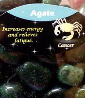 Zodiac Stone Cancer - Moss Agate