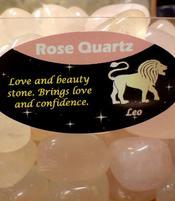 Zodiac Stone Leo - Rose Quartz