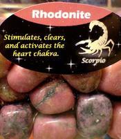 Zodiac Stone Scorpio - Rhodonite
