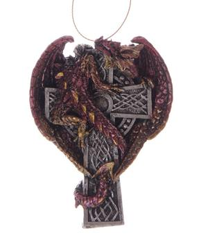 Hanger - Dark Legends Celtic Cross RED Dragon