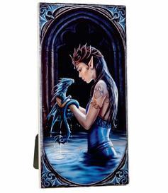 Anne Stokes Art Tile - Water Dragon, medium