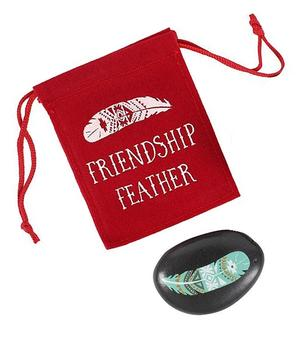 Worry Stone - Friendship Feather