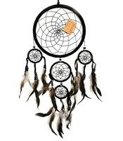 Dreamcatcher Multi 5 - Black 22cm