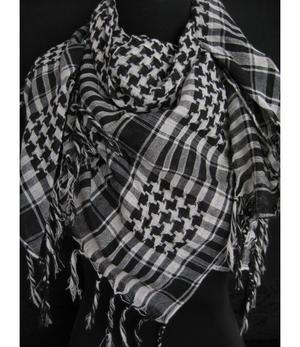 Arabic Scarf - White n' Black