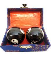 Baoding Balls - Yin Yang Black Multi 45mm