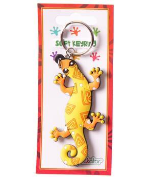 Keychain Funky PVC Lizard - Yellow