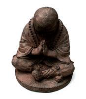 Shaolin Zen Buddha - Brown Stone Statue 15cm