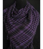 Arabic Scarf - Black n' Purple