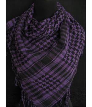 Arabic Scarf - Black n' Purple