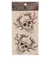 Temporary Skin Art Tattoo - Black Dragon Skull
